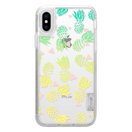 iPhone 6s Cases - Modern summer tropical turquoise yellow pineapples ombre gradient pink triangles pattern illustration by Girly Trend