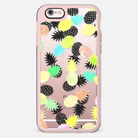 Modern exotic watercolor pineapples pattern by Girly Trend - New Standard Case