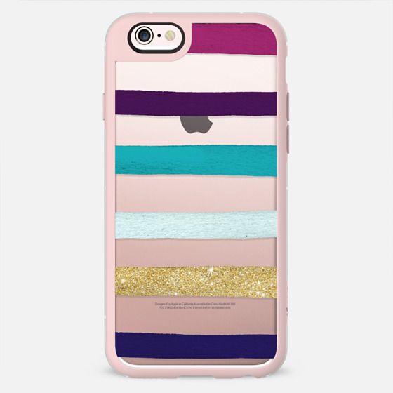 Modern Purple white gold handdrawn brushstroke paint stripes transparent by Girly Trend -
