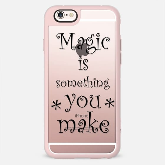 Trendy quote Magic is something you make blsck typography by Girly Trend -