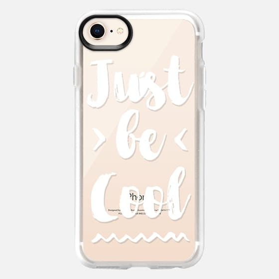 Modern summer white just be cool typography by Girly Trend - Snap Case