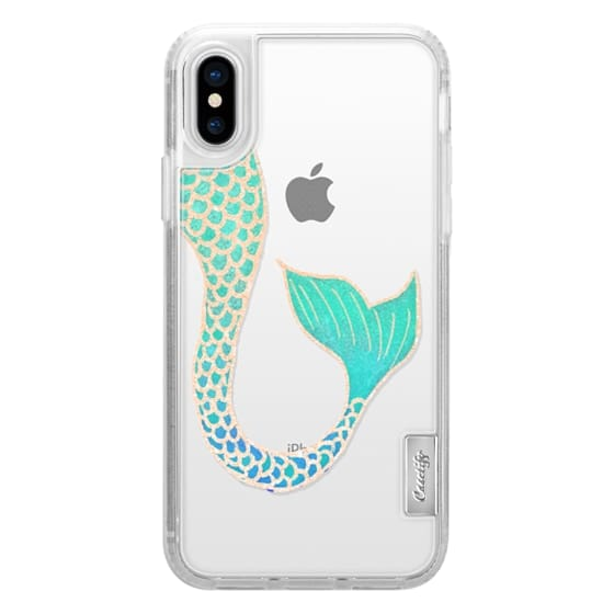 iPhone 6s Cases - Trendy turquoise teal blue rose gold mermaid tail illustration by Girly Trend