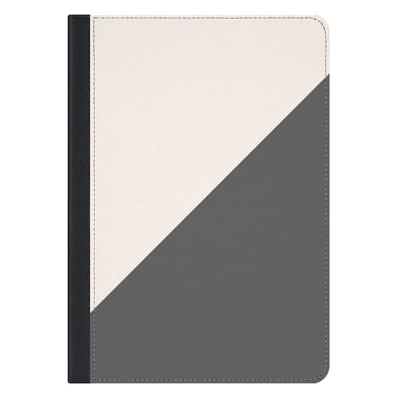 10.5-inch iPad Pro Covers - Minimalist blush pink grey color block geometric by Girly Trend