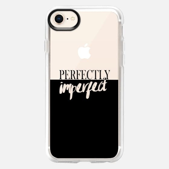 Perfectly imperfect typography modern black transparent color block - Snap Case
