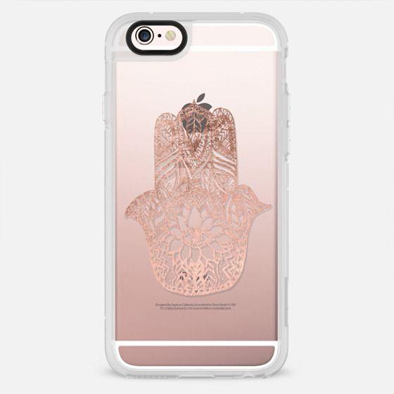 Modern floral rose gold hamsa hand illustration by Girly Trend - New Standard Case
