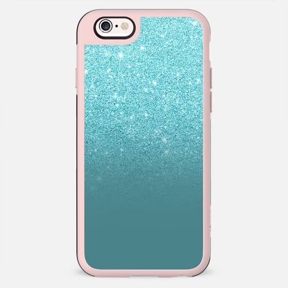 Modern teal faux glitter ombre by Girly Trend - New Standard Case
