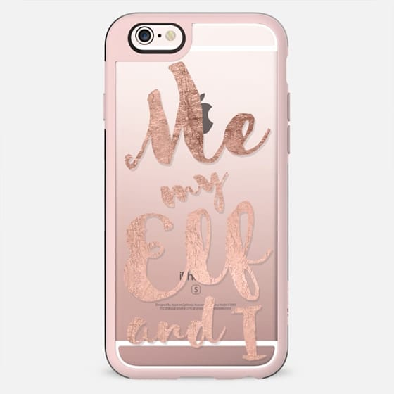 Modern me my elf and i faux rose gold foil  quote holiday christmas typography by Girly Trend - New Standard Case