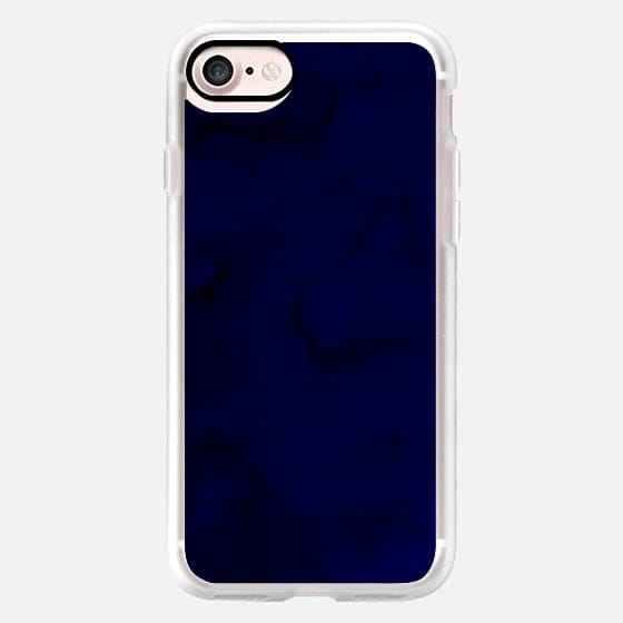 Modern hand painted dark blue navy watercolor paint by Girly Trend -