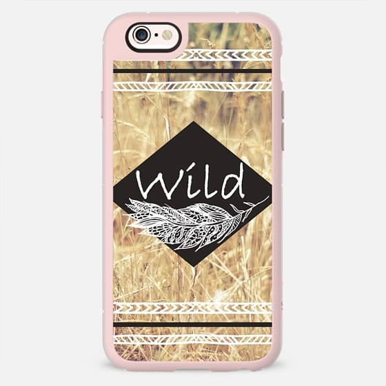 Modern typography hand drawn boho chic wheat field by Girly Trend -