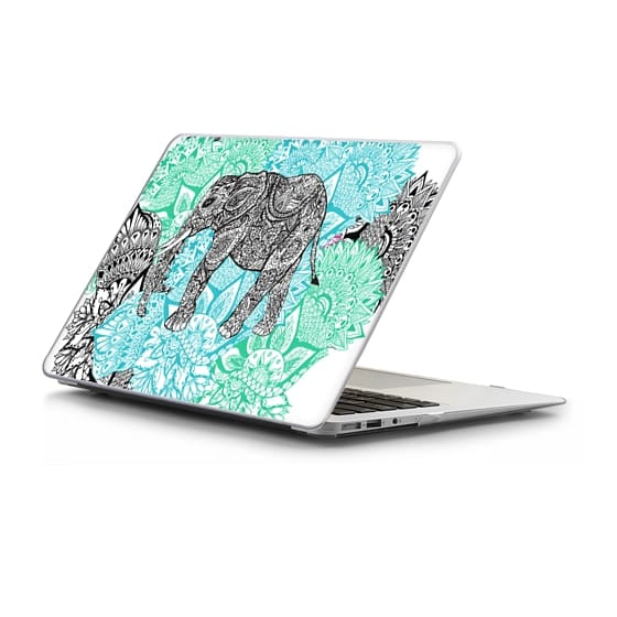 MacBook Air 13 Sleeves - Boho paisley elephant mandala handdrawn pastel floral by Girly Trend