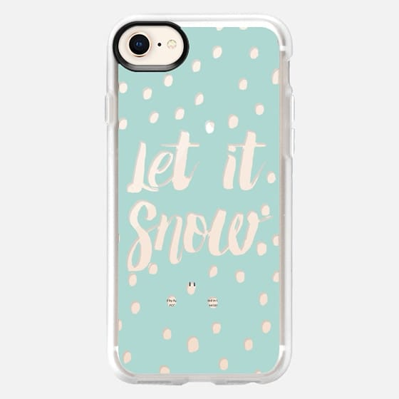 Let it snow modern typography handdrawn snowflakes transparent by GirlyTrend - Snap Case