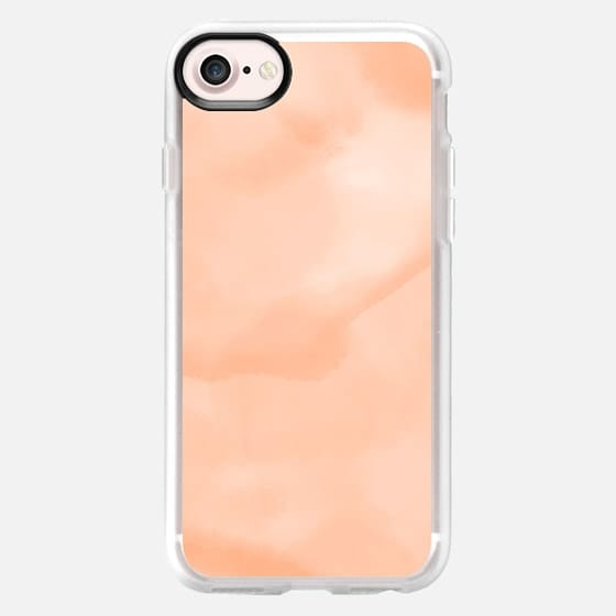 Summer peach sand watercolor by Girly Trend