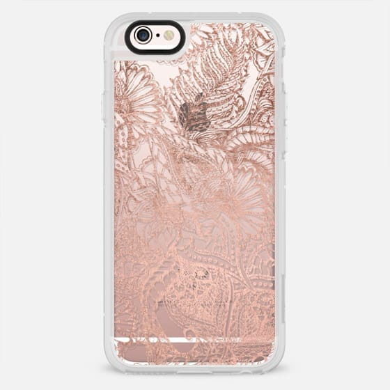 Modern rose gold foild hand drawn floral mandala pattern by Girly Trend - New Standard Case