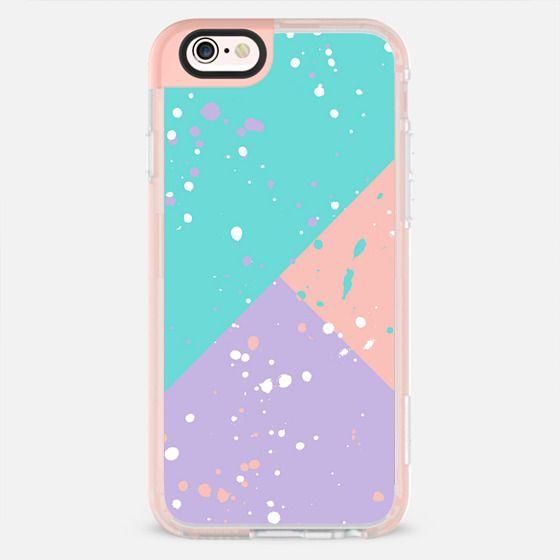 Modern pastel teal lavender pink color block triangles for Pastel teal paint