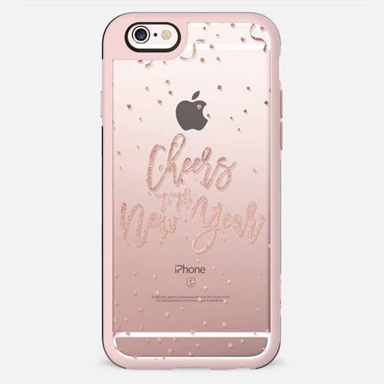 Modern faux rose gold foil cheers the new year typography holiday gold confetti by Girly Trend - New Standard Case