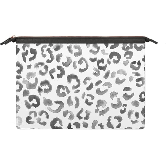 MacBook Pro 13 Sleeves - Hand painted Watercolor leopard print pattern by Girly Trend