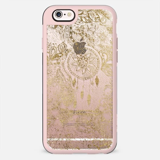 Chic modern faux gold leaf dreamcatcher doodles - New Standard Case