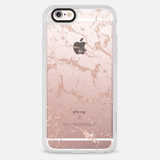 Modern rose gold glitter marble by Girly Trend