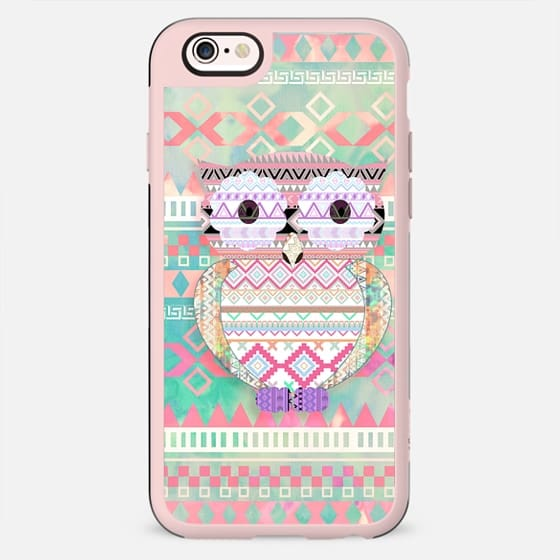Whimsical Tribal Owl Pastel Girly Tie Dye Aztec by Girly Trend - New Standard Case
