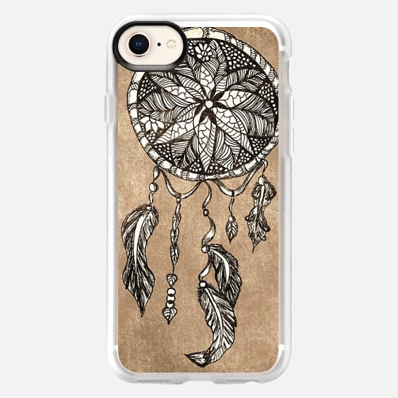 Hipster dreamcatcher feathers vintage paper by Girly Trend - Snap Case
