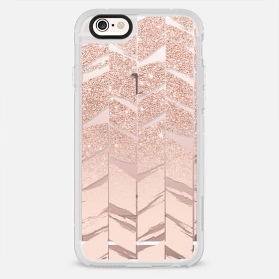 faux pink glitter blush pastel pink ombre chevron herringbone pattern - New Standard Case