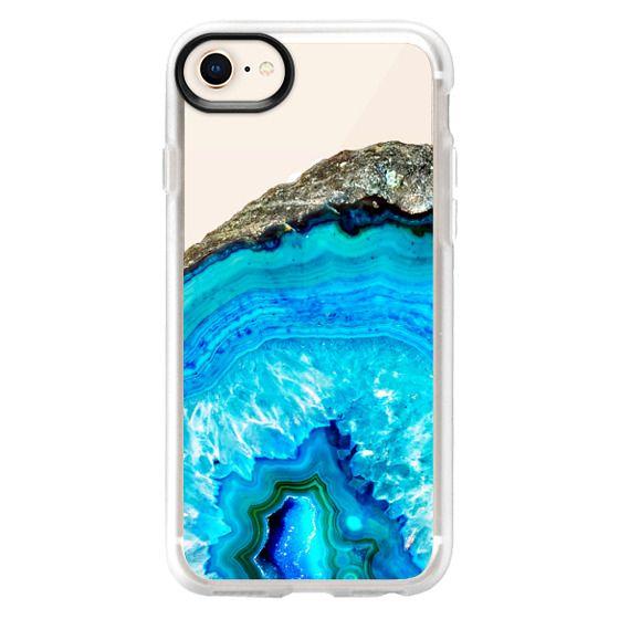 iPhone 6s Cases - Modern bright blue turquoise agate gemstone quartz transparent