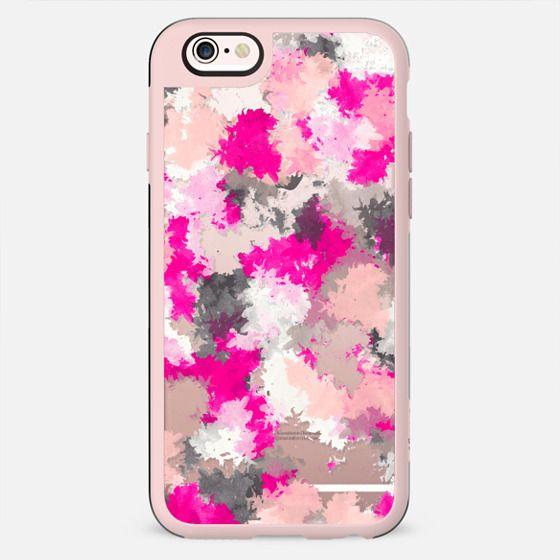Pink Black Grey Watercolor splatter pattern - New Standard Case