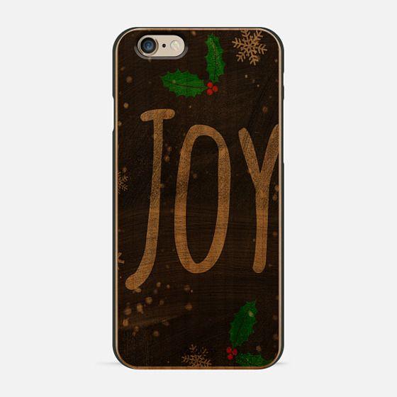 Christmas Holidays Joy typography snow black chalkboard by Girly Trend