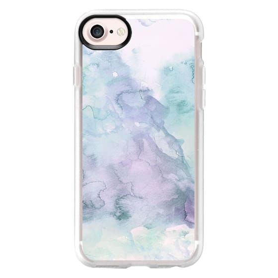 Pastel modern purple lavender hand painted watercolor wash by Girly Trend