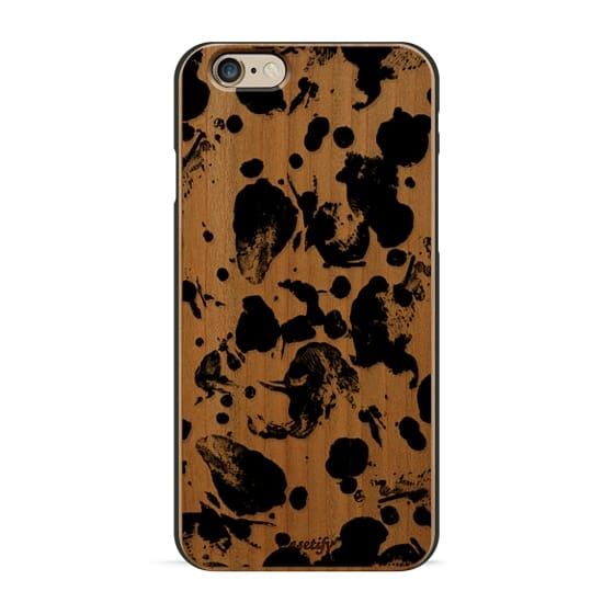 Modern abstract black paint splatters by Girly Trend