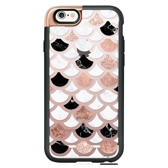 36585f8a6dfd Classic Snap Nexus 5 Case - Modern mermaid scallop pattern rose gold foil  glitter black white marble by Girly Trend semi transparent