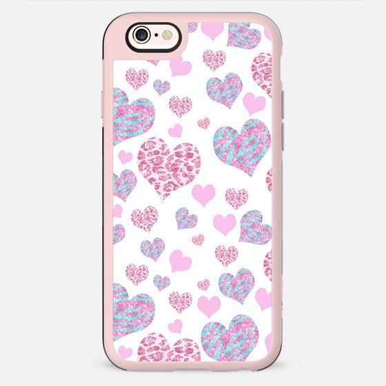 Valentine s Glitter Leopard Zebra Love Hearts Pattern -