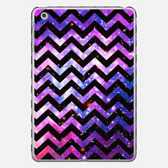 Purple Nebula glitter Space Chevron Pattern Ipad mini - Classic Snap Case