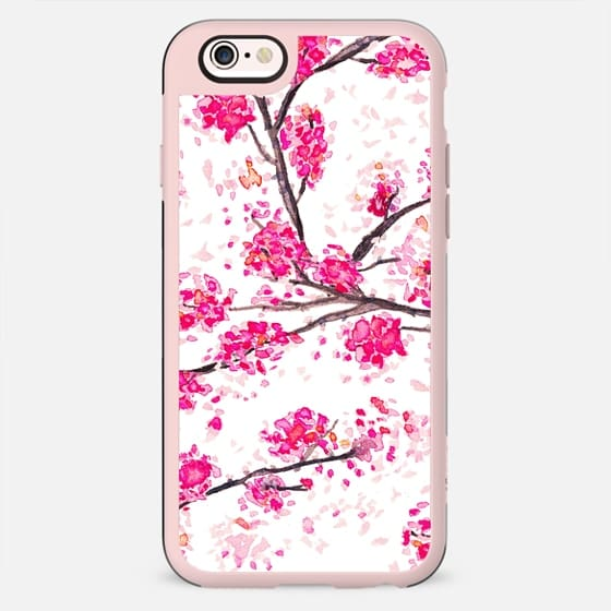 Pink Cherry blossoms watercolor painting