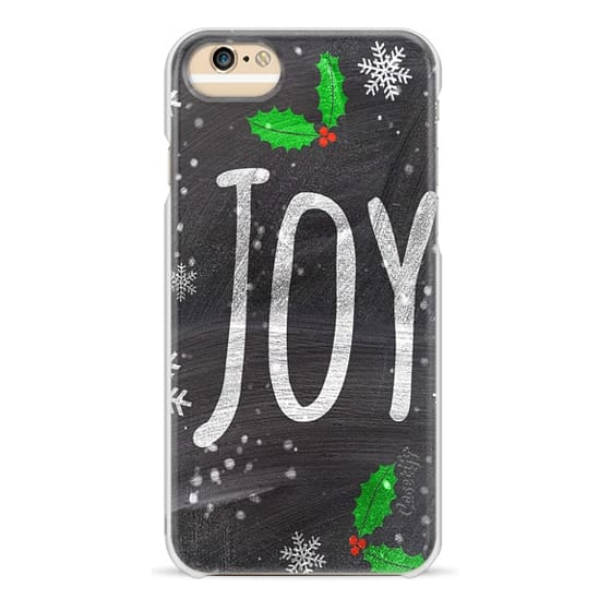 iPhone 6 Cases - Christmas Holidays Joy typography snow black chalkboard by Girly Trend