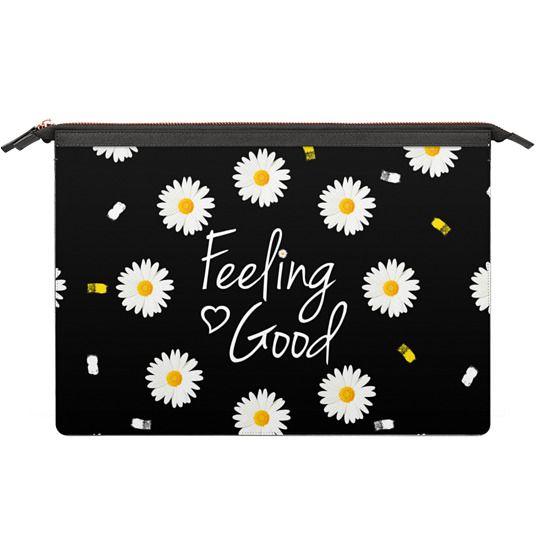 MacBook Pro Touchbar 13 Sleeves - Girly daisy flowers feeling good typography brushstrokes  by Girly Trend