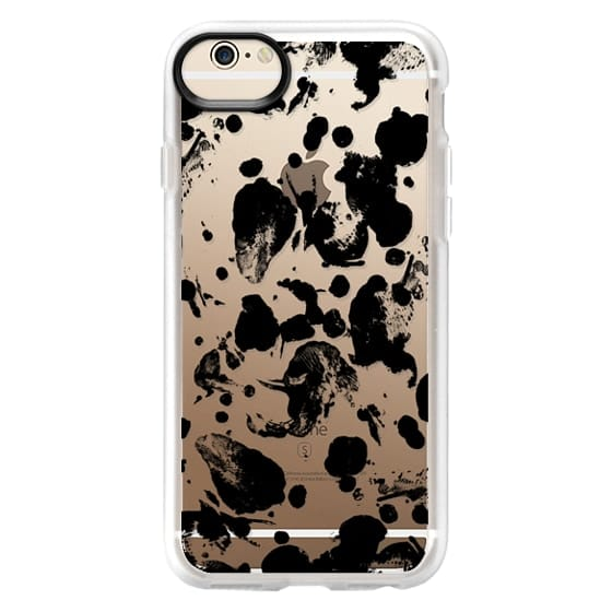 iPhone 6 Cases - Modern abstract black paint splatters by Girly Trend