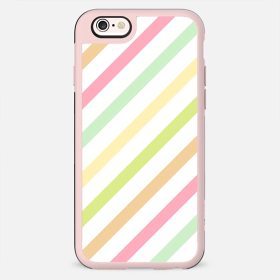 Vintage Candy Pastel Summer Stripes Pattern -