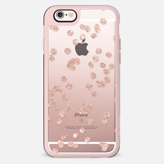 Modern girly chic trendy faux rose gold glitter confetti pattern by Girly Trend - New Standard Case