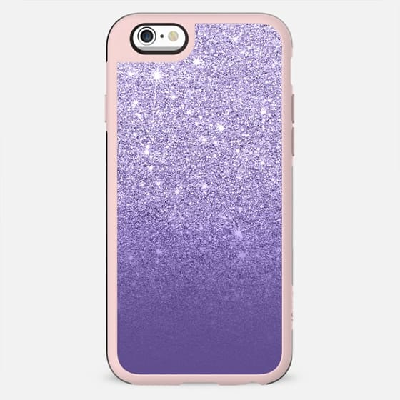 Modern ultra violet FAUX glitter ombre purple color block by Girly Trend - New Standard Case