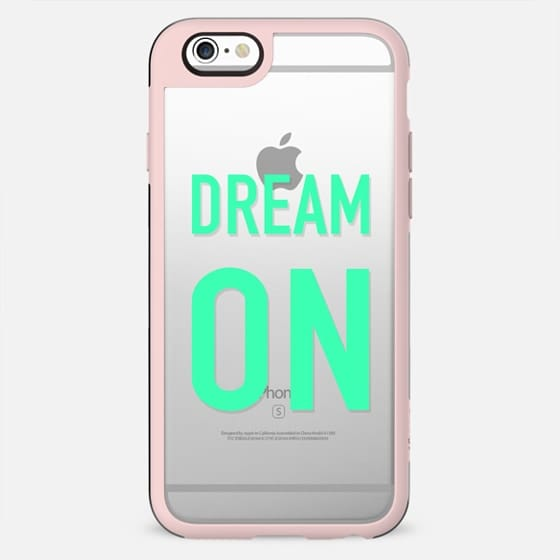 Modern minimalist dream on turquoise typography transparent by Girly Trend - New Standard Case
