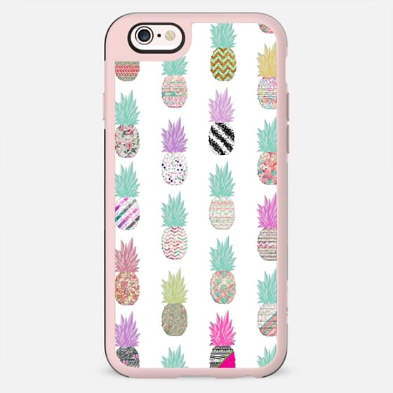 Girly Exotic Pineapple Aztec Floral Pattern - New Standard Case