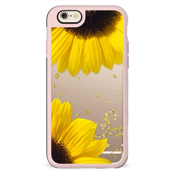 Bright sunflowers flower gold confetti