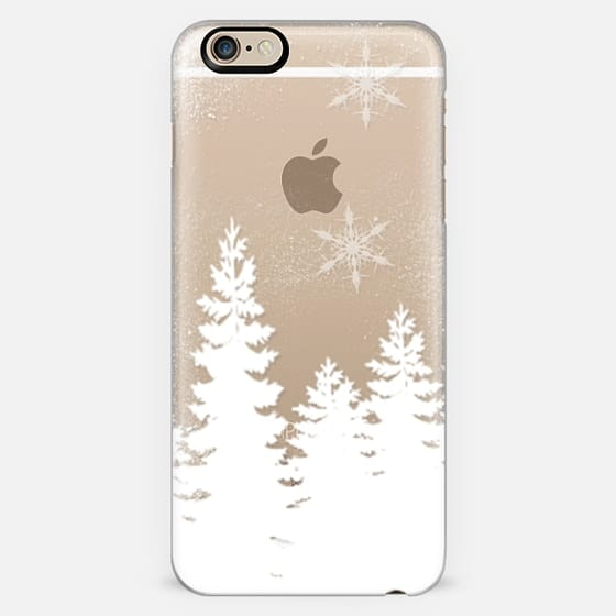 Holiday winter christmas snow forest snowflakes cut out white transparent by Girly Trend -