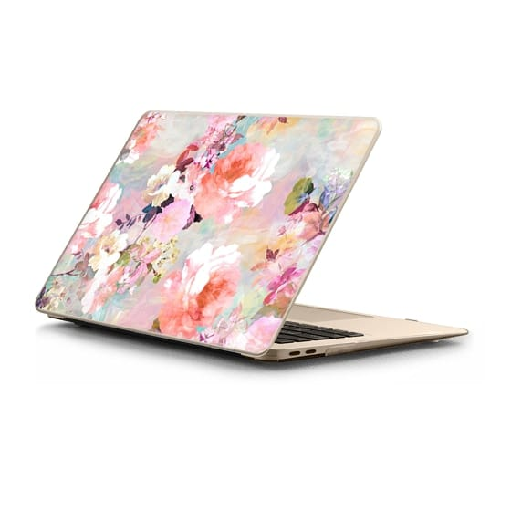 MacBook Air Retina 13 Sleeves - Romantic Pink Teal Pastel Chic Floral Pattern by Girly Trend