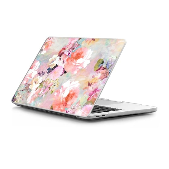 MacBook Pro Touchbar 13 Sleeves - Romantic Pink Teal Pastel Chic Floral Pattern by Girly Trend