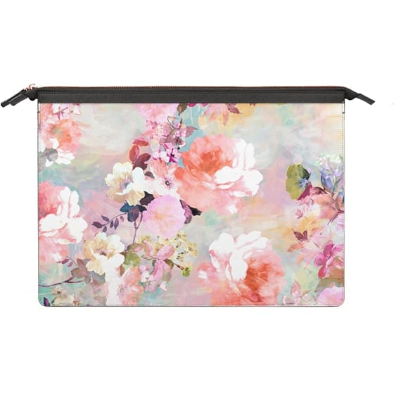 MacBook Pro Retina 13 Sleeves - Romantic Pink Teal Pastel Chic Floral Pattern by Girly Trend