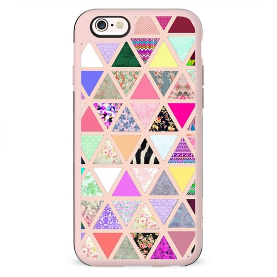 Spring Vintage Abstract Floral Triangle Pastel Patchwork