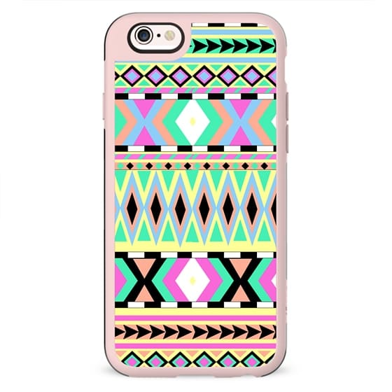 Girly Bright Pastel Abstract Andes Aztec Pattern