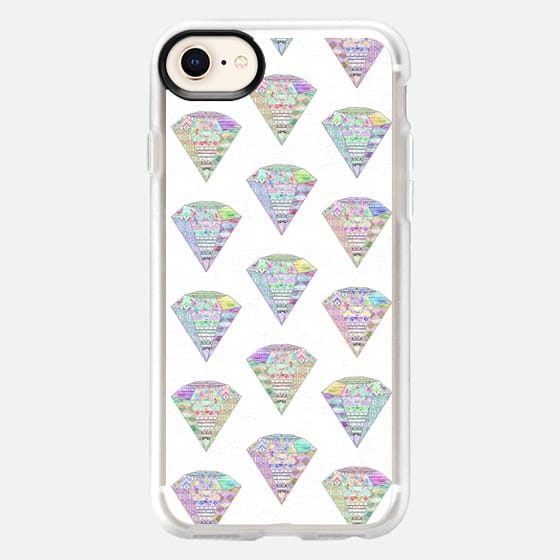 Trendy Girly Pastel Pink Diamond Aztec Patterns